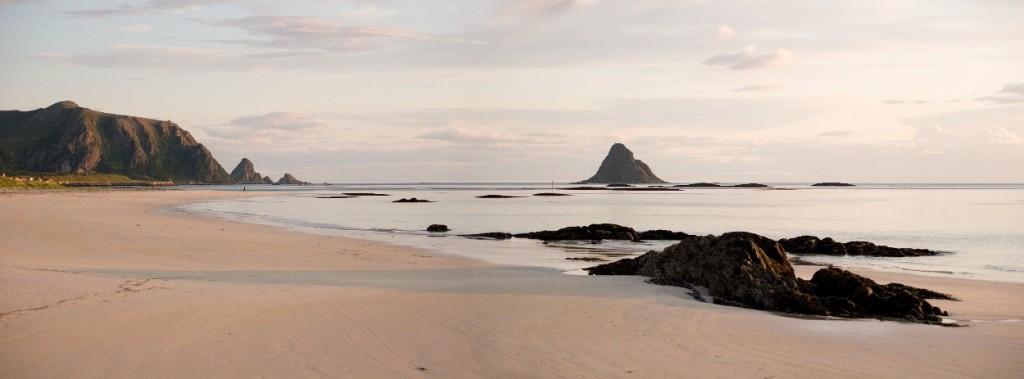Strand im hohen Norden