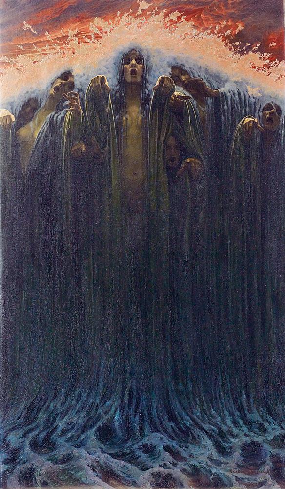 Carlos Schwabe - Die Welle