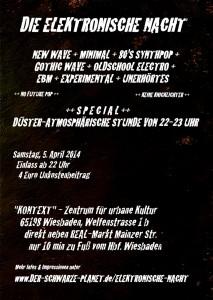 Flyer 5. Elektronische Nacht